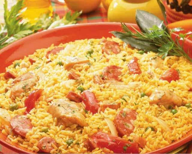 Receita jambalaya de arroz