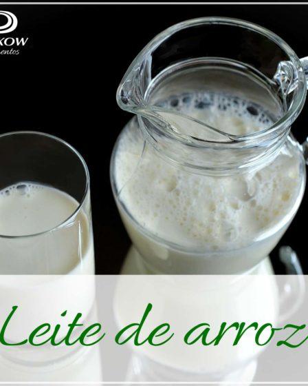 Receita leite de arroz sem lactose