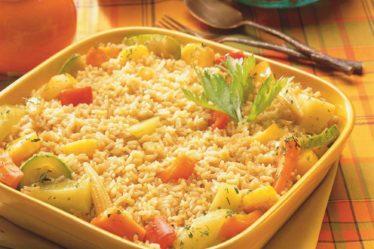 Receita Arroz integral com legumes