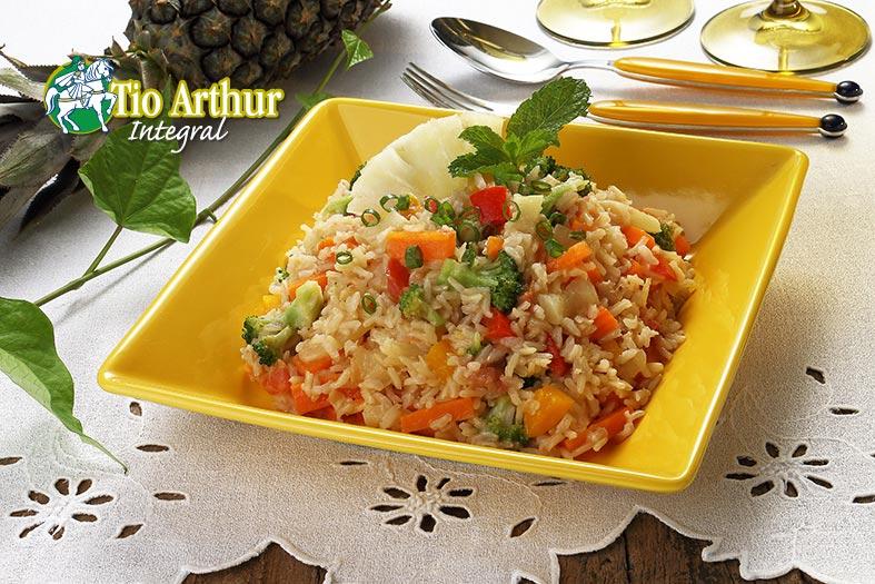 Receita Arroz Tailandês com abacaxi