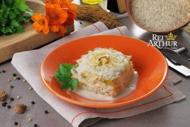 Receita Lasanha de arroz com frango