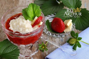 Receita Risoto doce com morango
