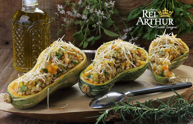 Receita de Risoto de arroz integral com abóbora