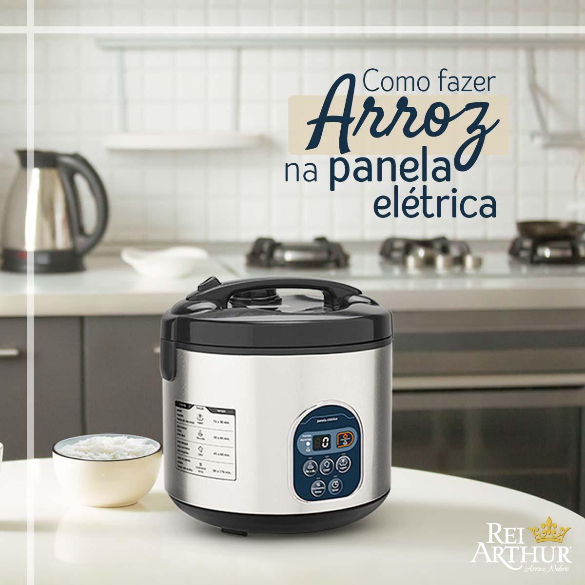 Como fazer arroz na panela elétrica e sua vantagens
