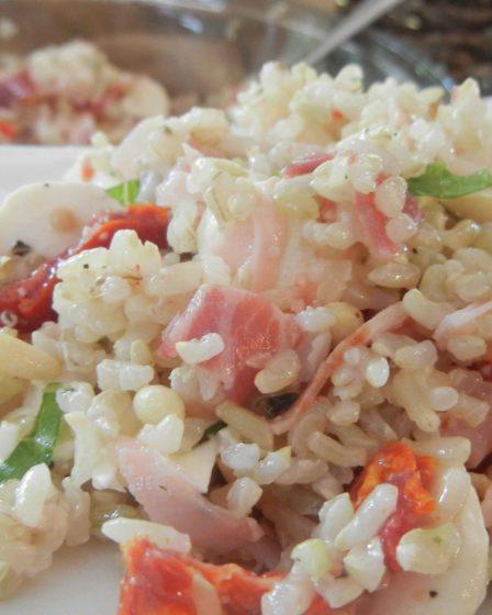 Receita Salada de Arroz Integral Italiana