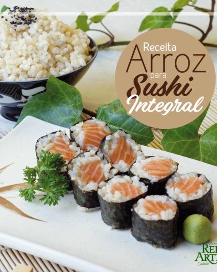 Receita de arroz para sushi integral - Hossomaki