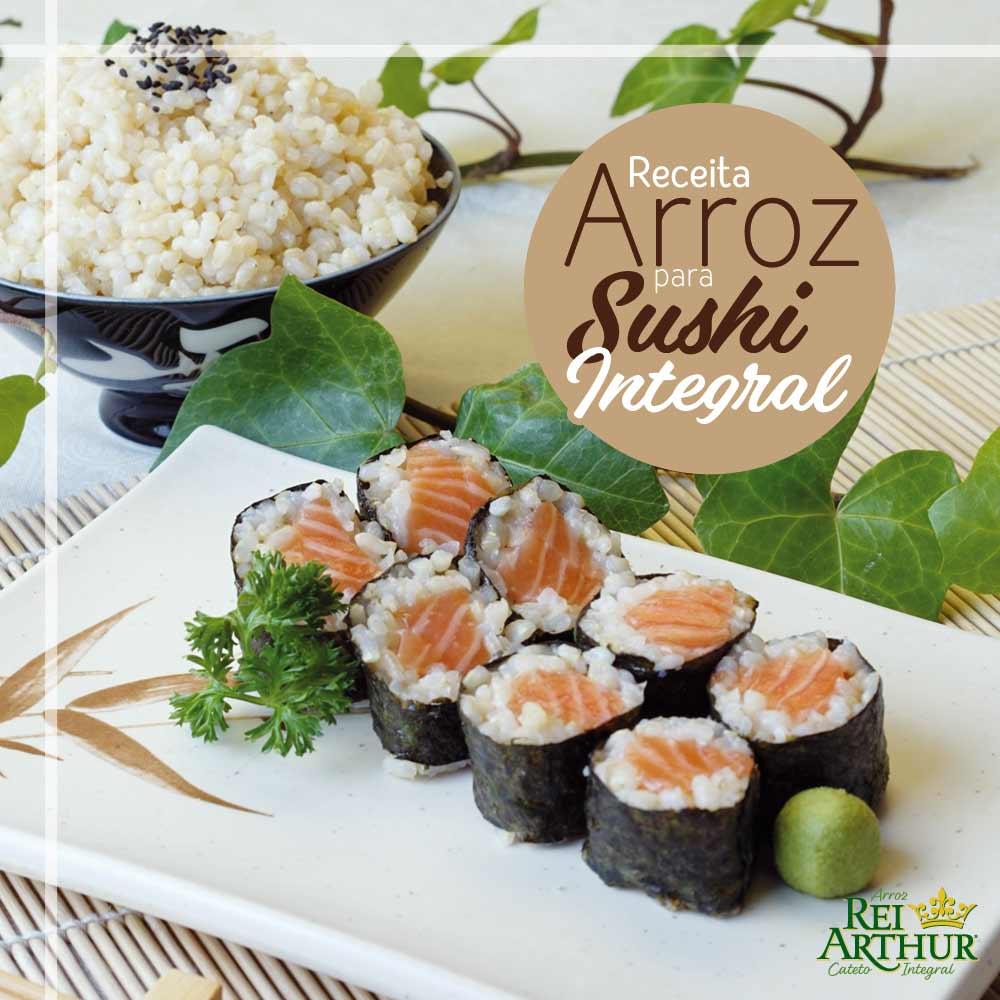 Receita de Arroz para sushi integral