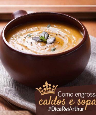 Como engrossar sopas e caldos