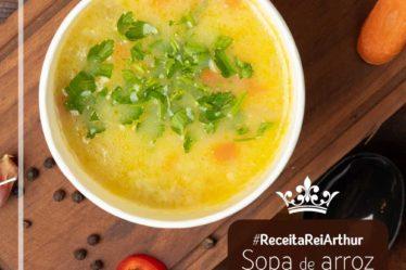 Receita sopa de arroz e legumes