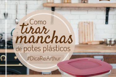 Como limpar manchas de potes plásticos