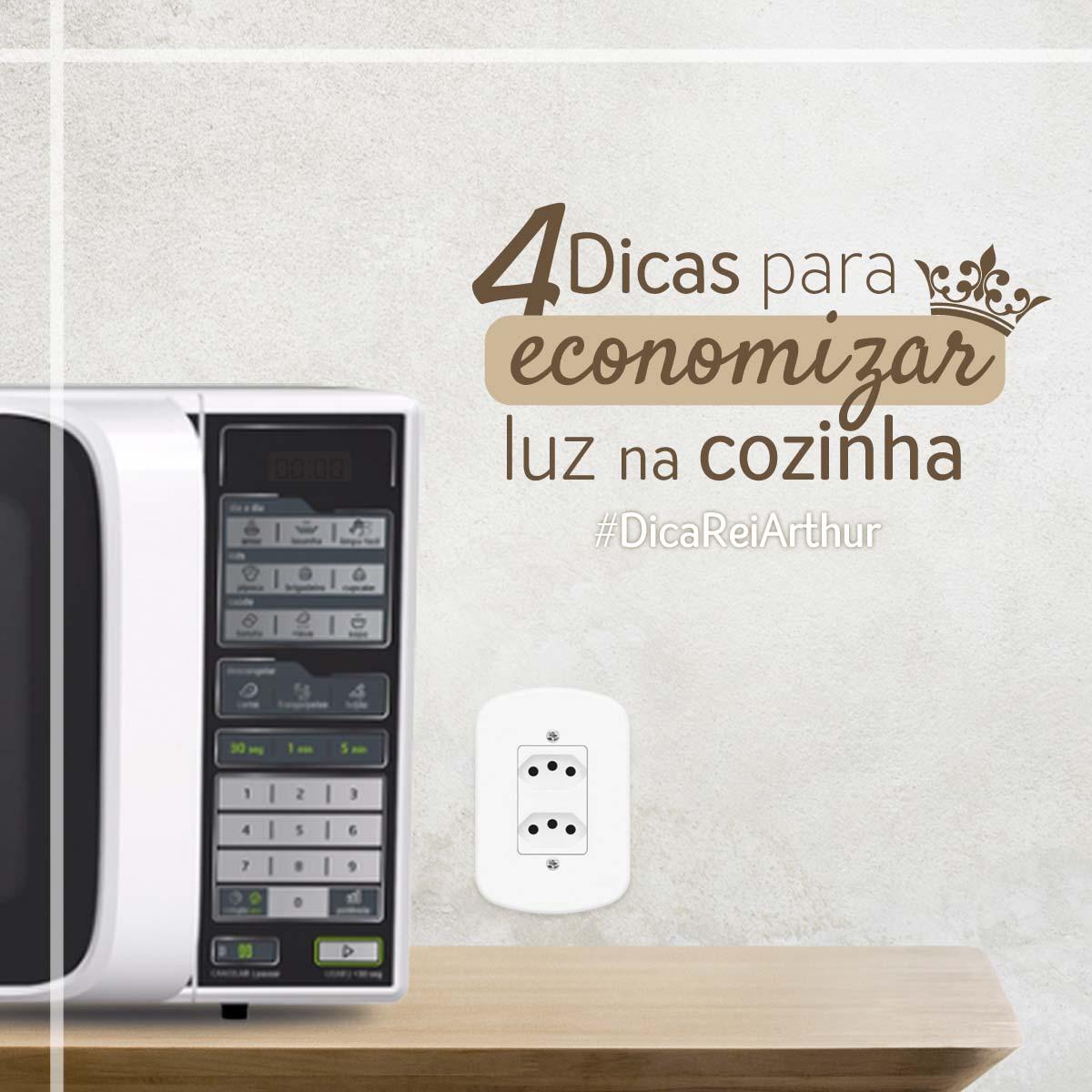 Dicas para economizar luz na cozinha
