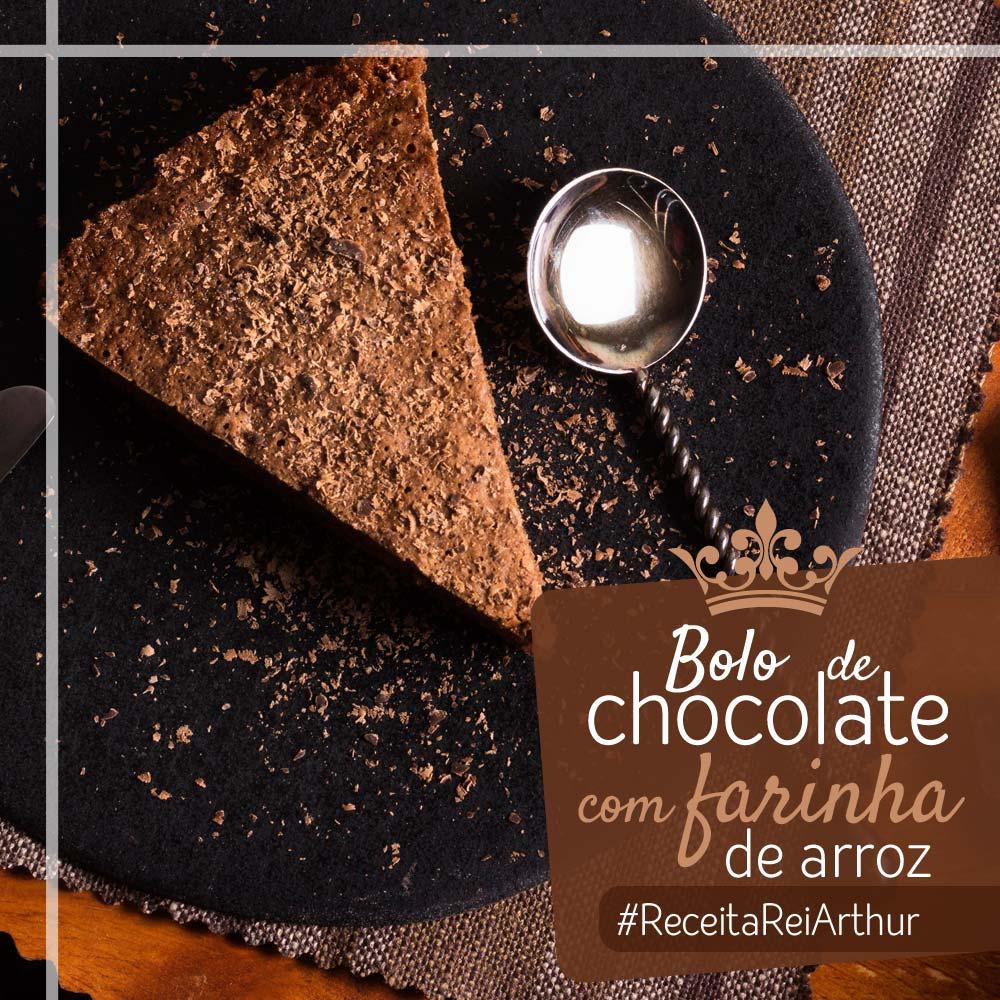 Bolo de chocolate com farinha de arroz