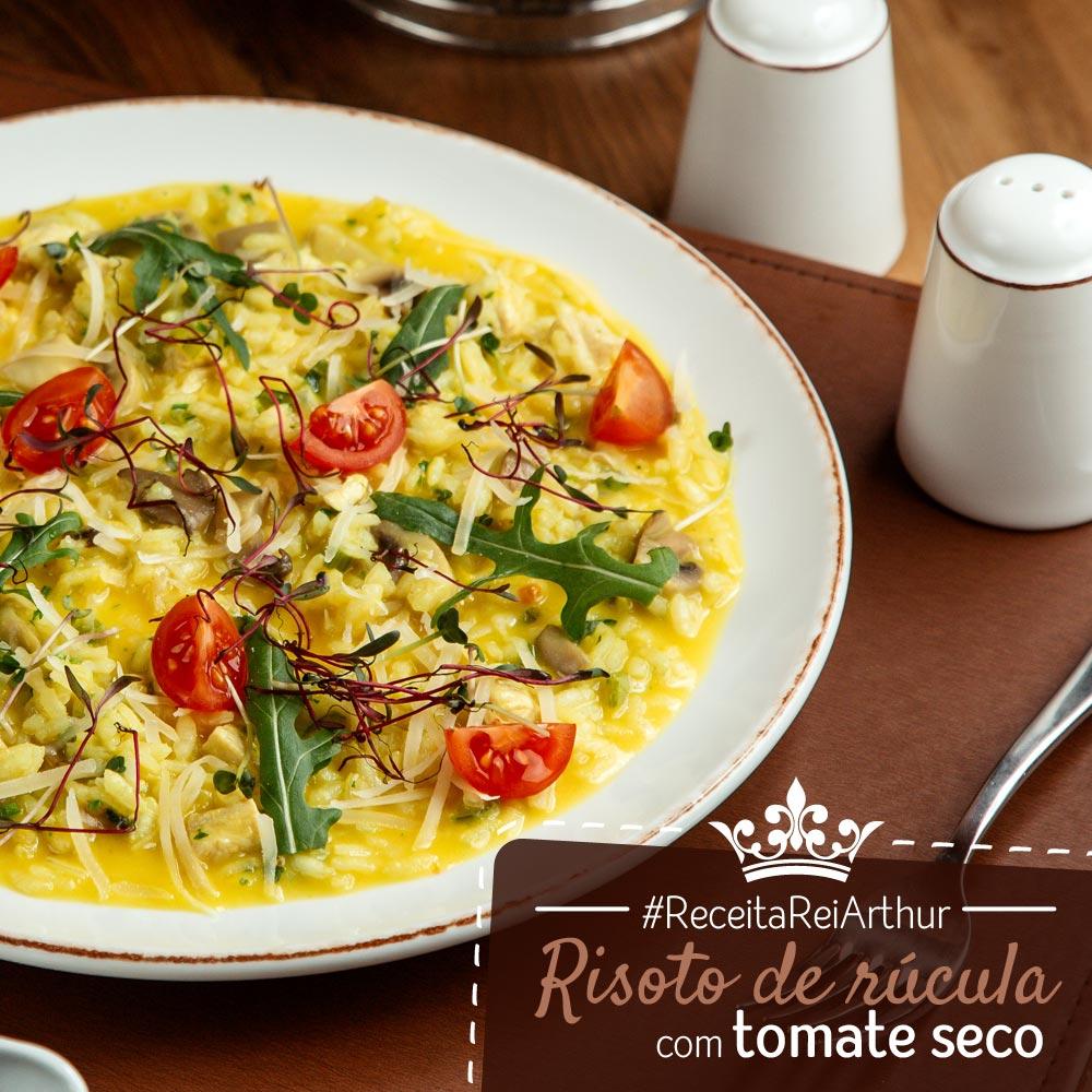 Receita risoto de rúcula com tomate seco