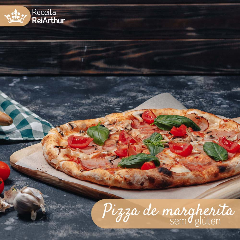 Pizza de margherita sem glúten