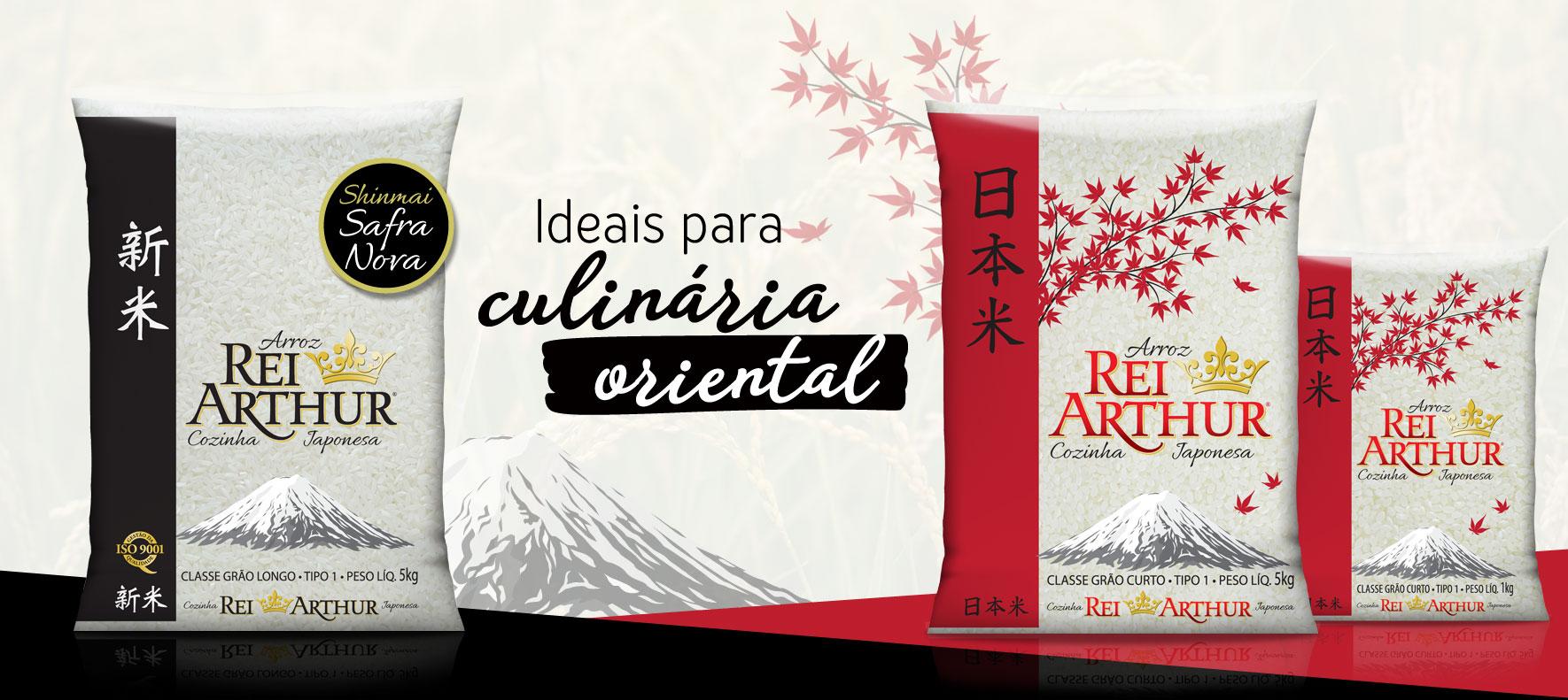 Arroz Rei Arthur Cozinha Japonesa, ideal para quem gosta da comida Japonesa