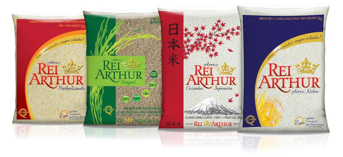 Linha de Produtos Rei Arthur, Tio Arthur, Arroz Gladiador, ISO 9001