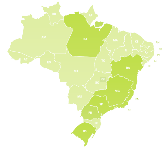 Mapa de representantes Arroz Rei Arthur
