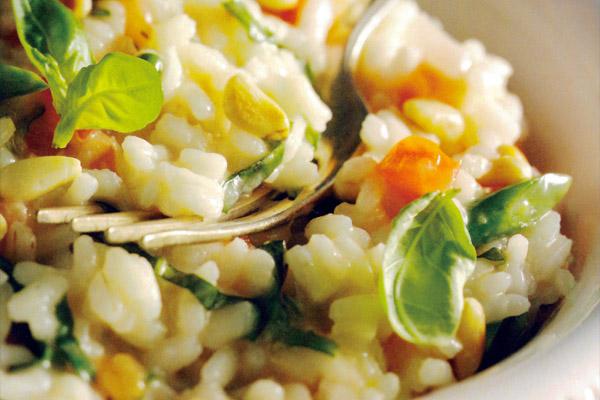 Receita culinária gaúcha: Como fazer Risoto de manjericão com pinhão