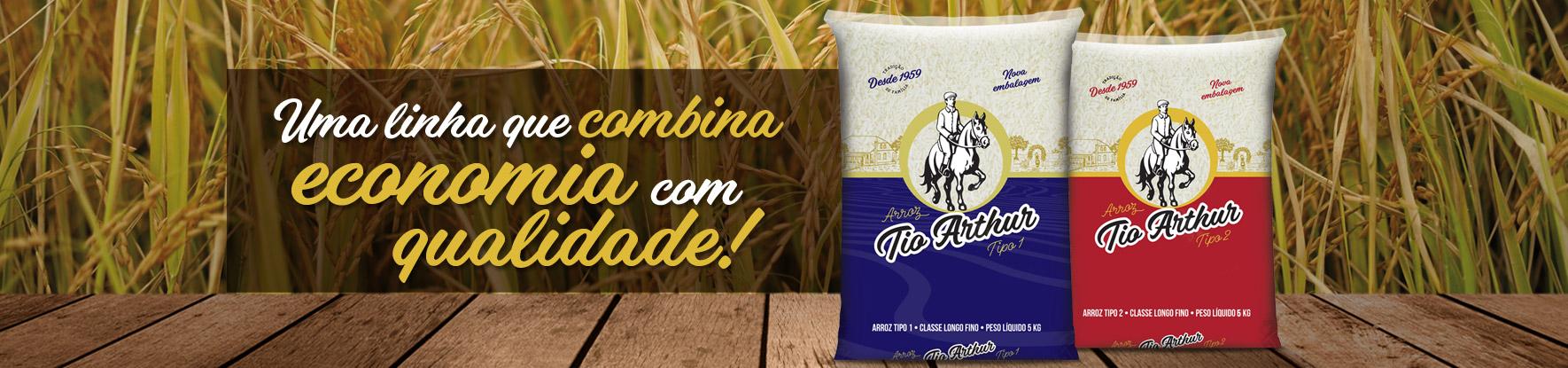 Conheça o arroz Tio Arthur